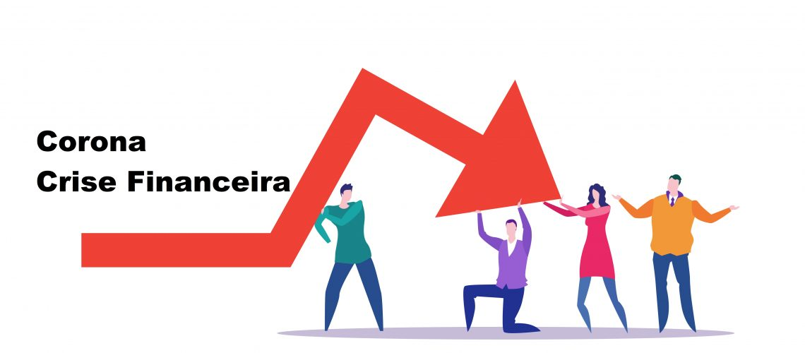 businesspeople team frustrated about economic arrow falling down financial crisis bankrupt investment risk concept business people holding red chart moving downward full length horizontal vector illustration
